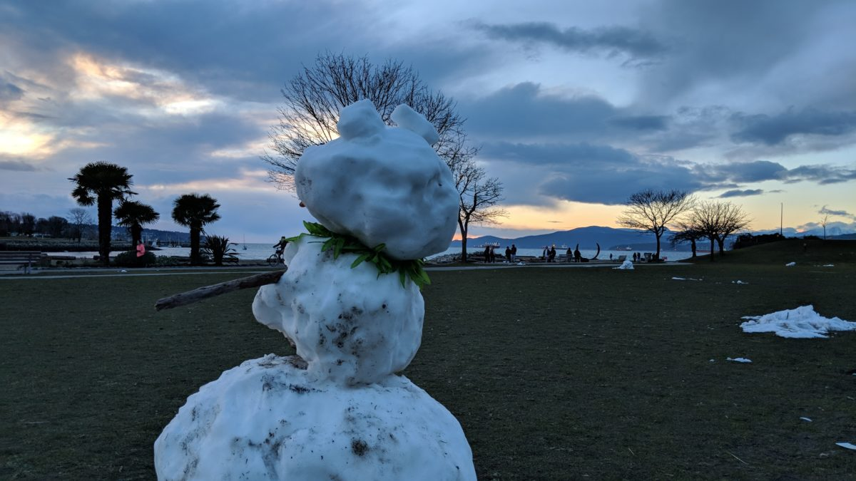 The snowman's view: days 421 — 425