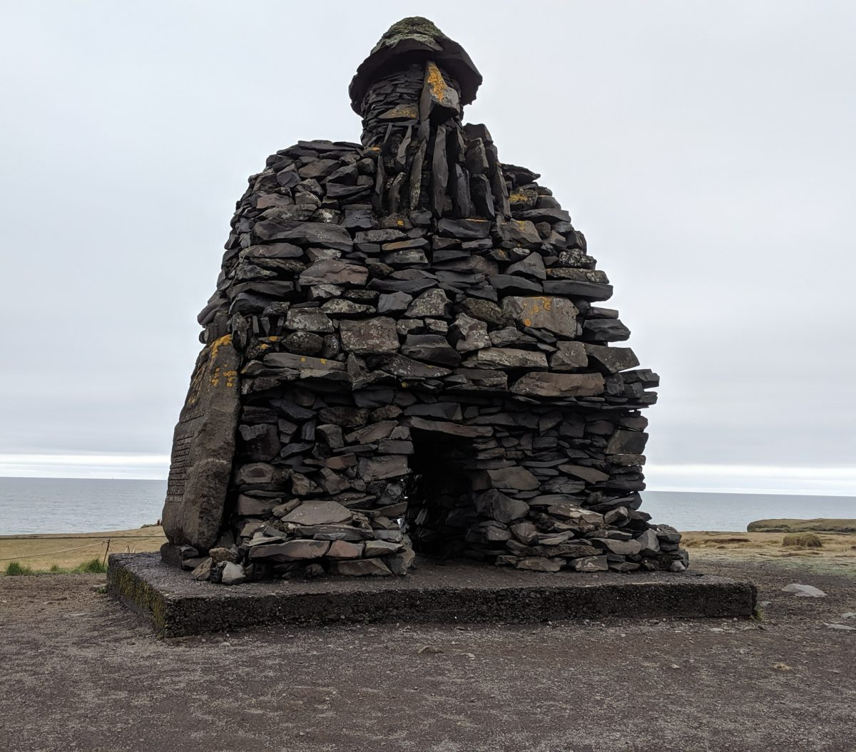 statue of ancient viking legend