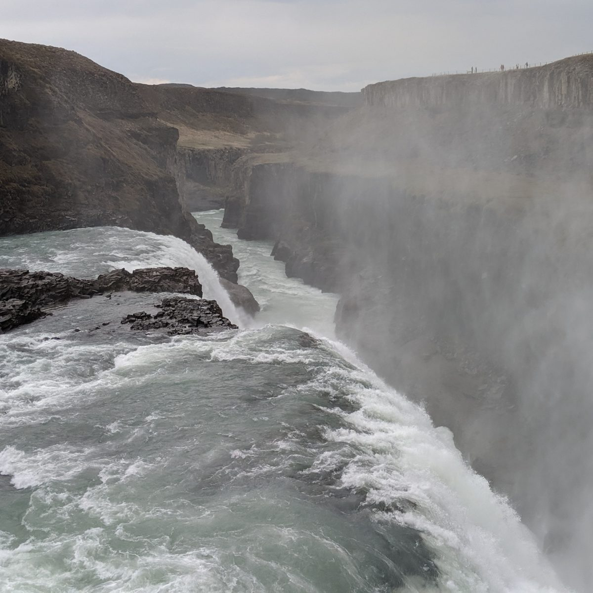 gullfoss and downstream