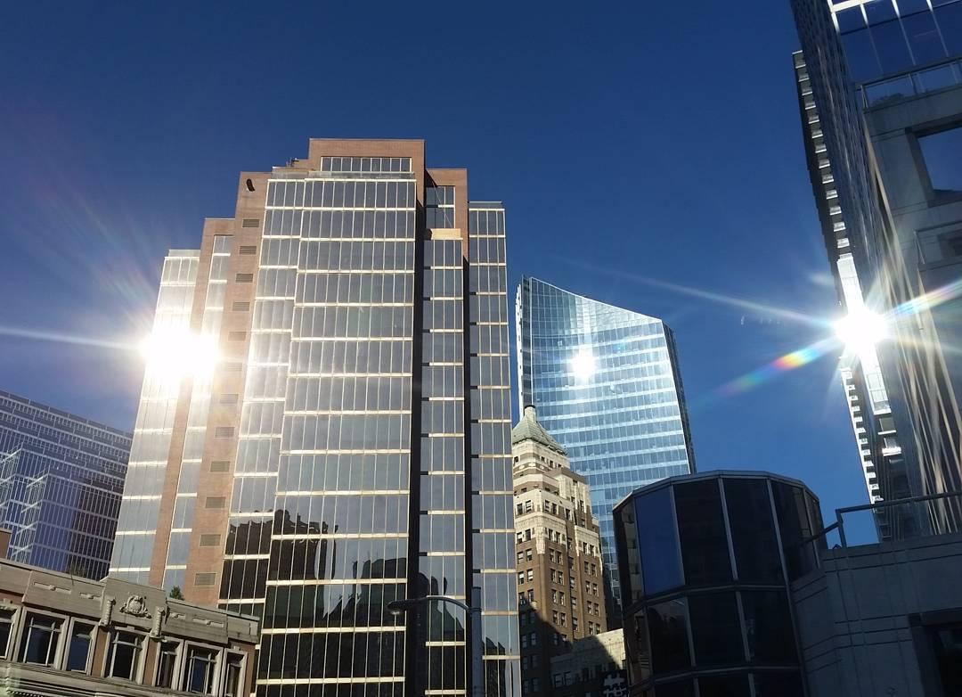 Three sun reflections