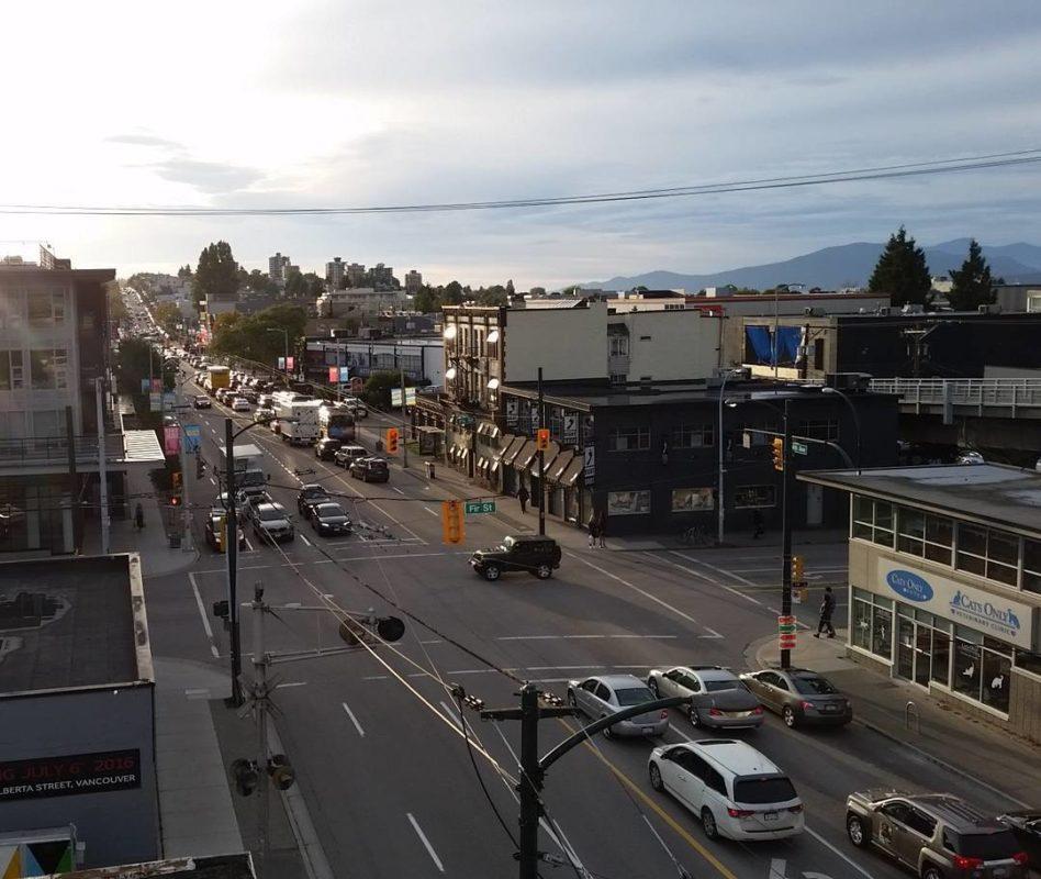 4th avenue, sun going down
