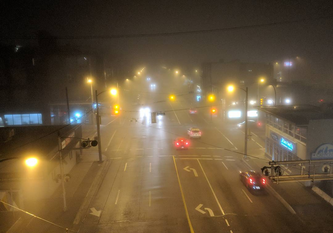 4th avenue in the fog