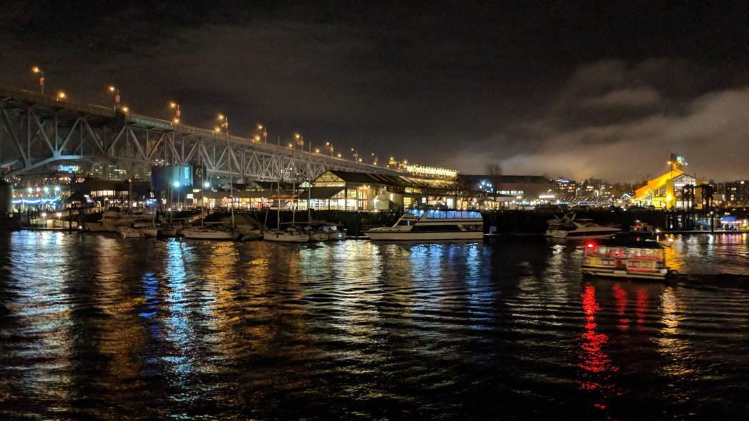 Granville Bridge at night