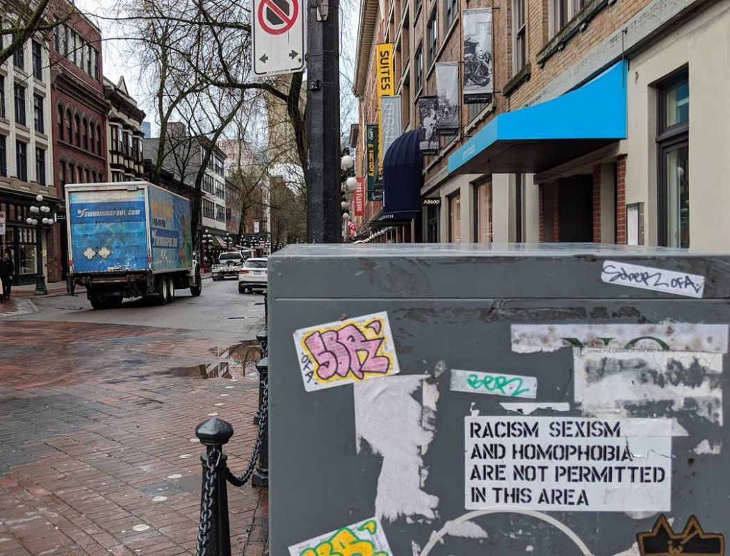 Gastown street and signs