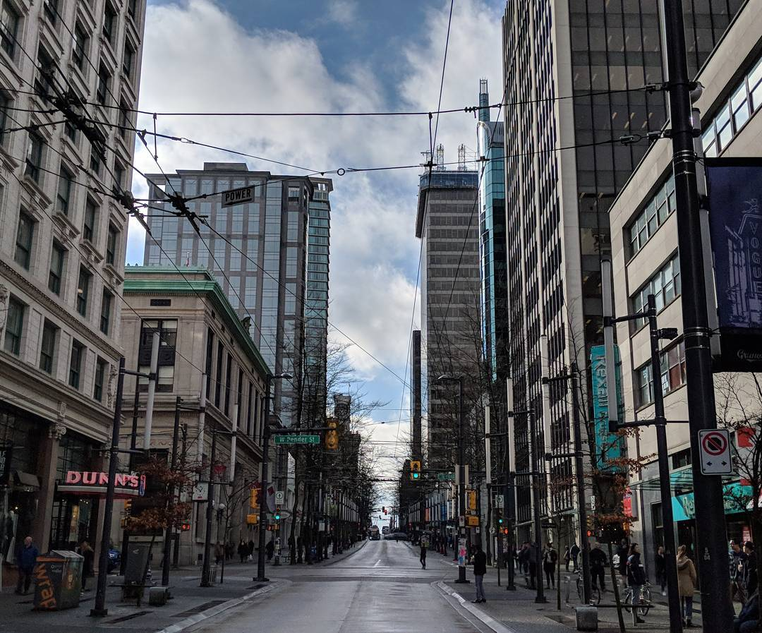 Granville Street and tall buildings
