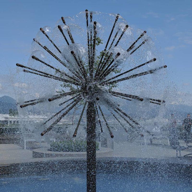 Fountain looking like a flower