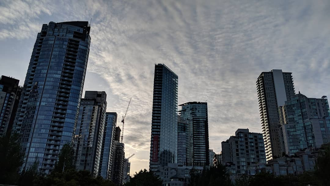 Yaletown towers in the fading light