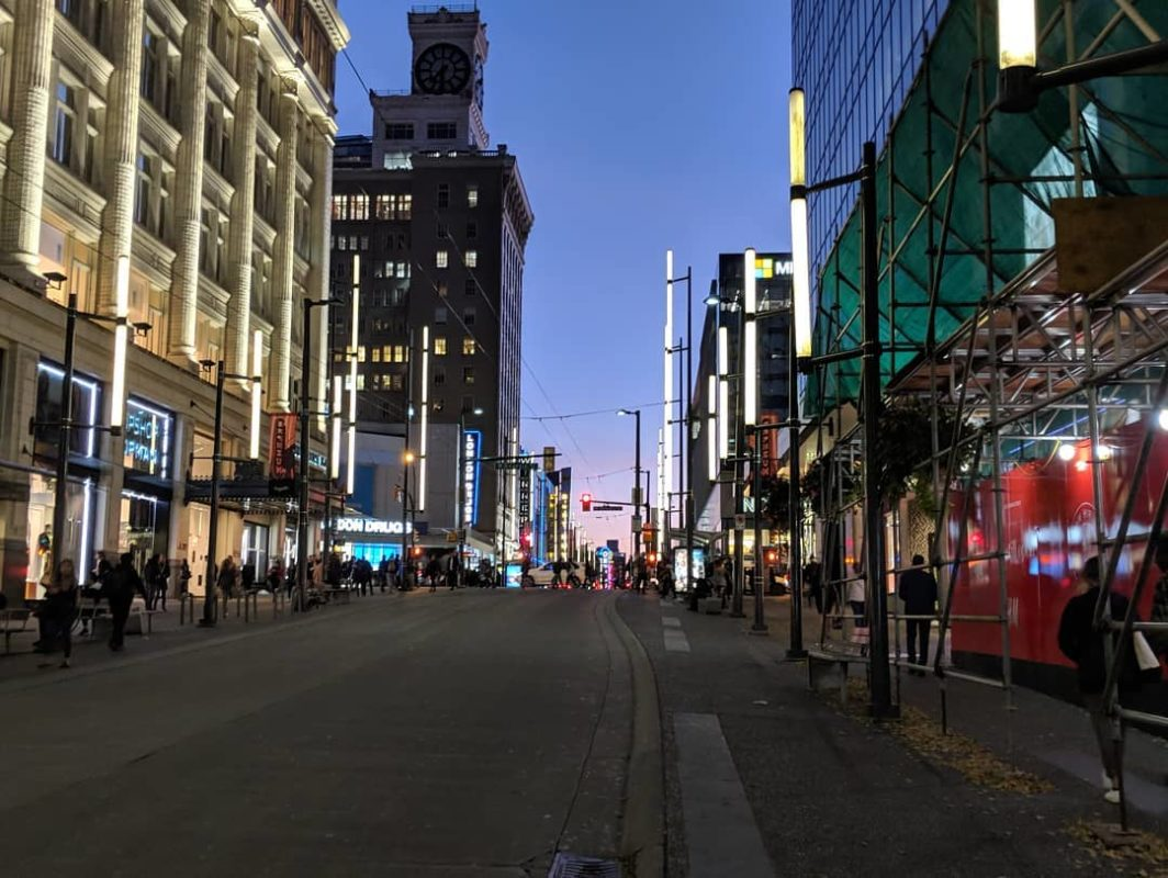 Granville Street dusk