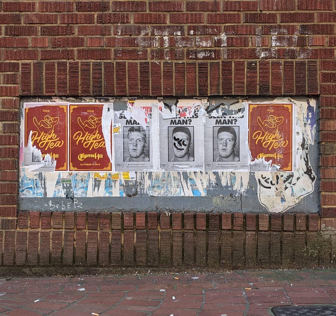 graffiti'd posters