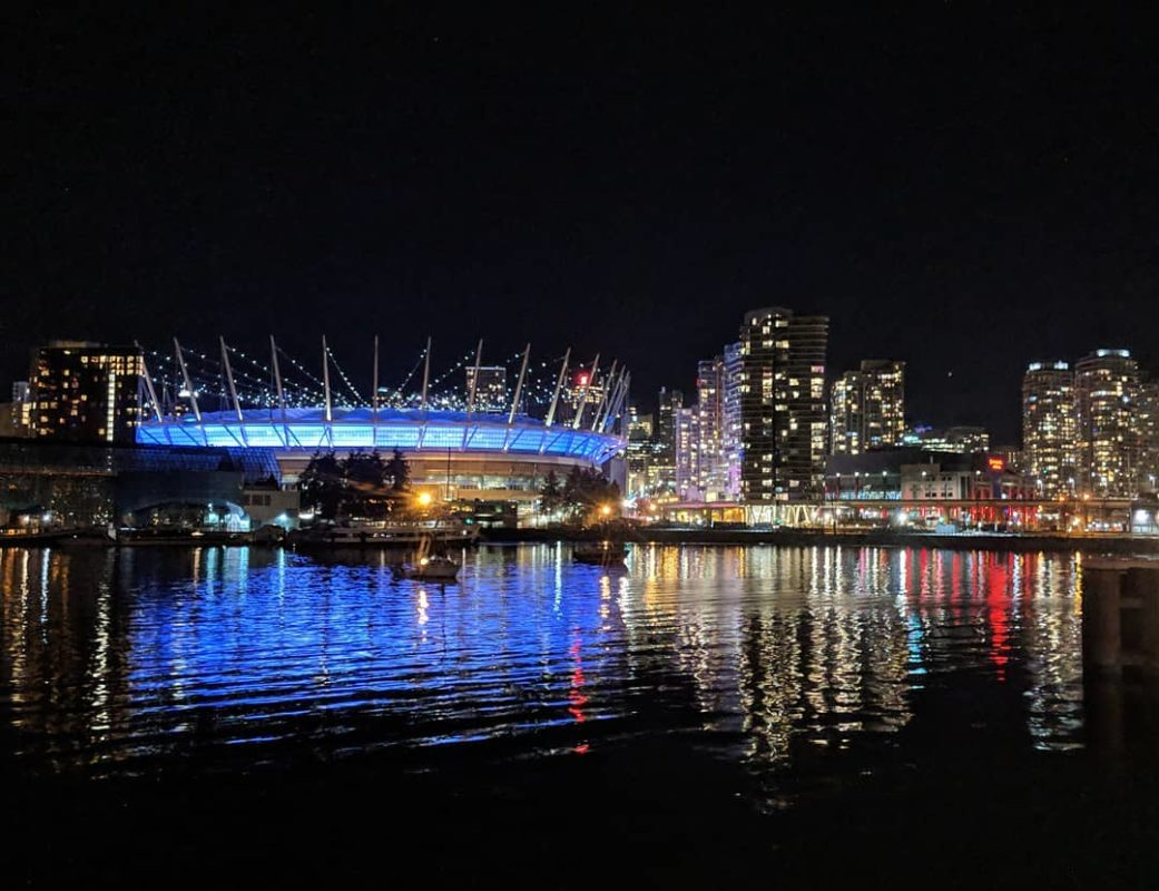BC Place reflection