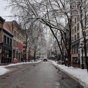 Gastown in winter