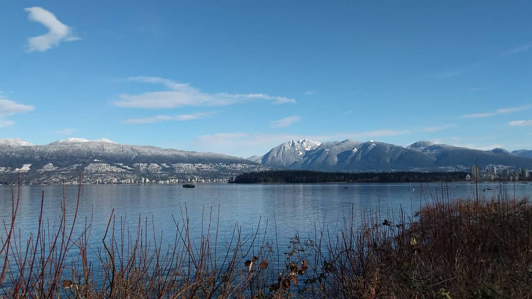Mountains and Stanley Park