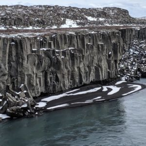 basalt and black sand