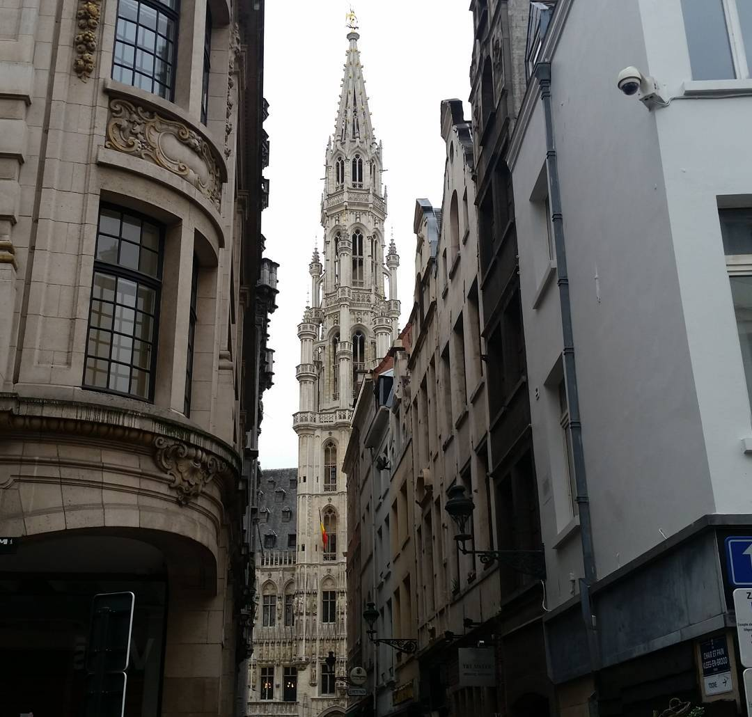 Brussels city hall belfry