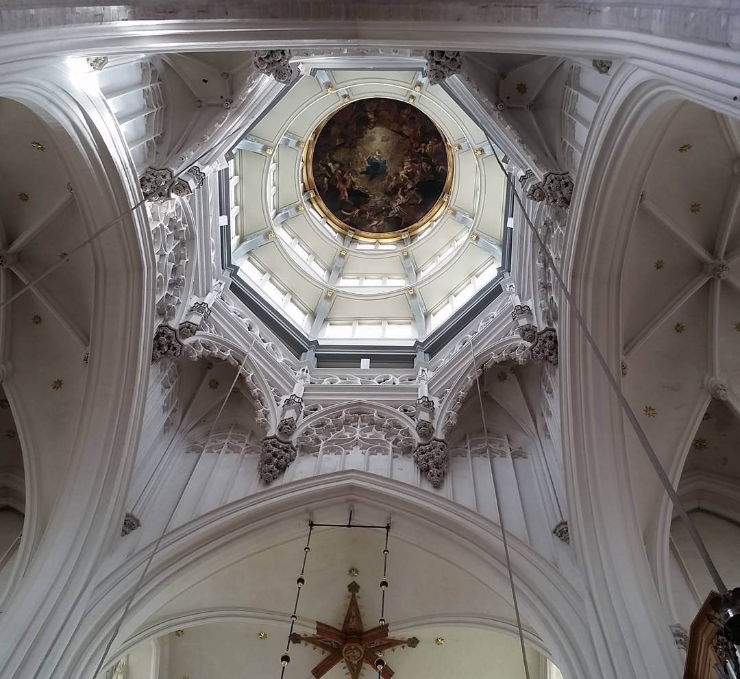 Cathedral ceiling above the altar