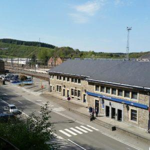 Looking down on Jemelle train station