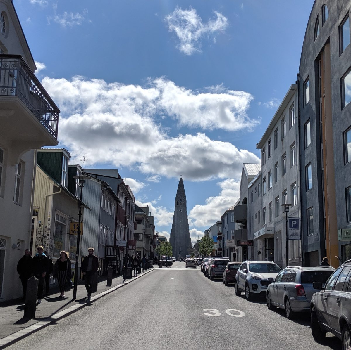 Down the street at Hallgrímskirkja
