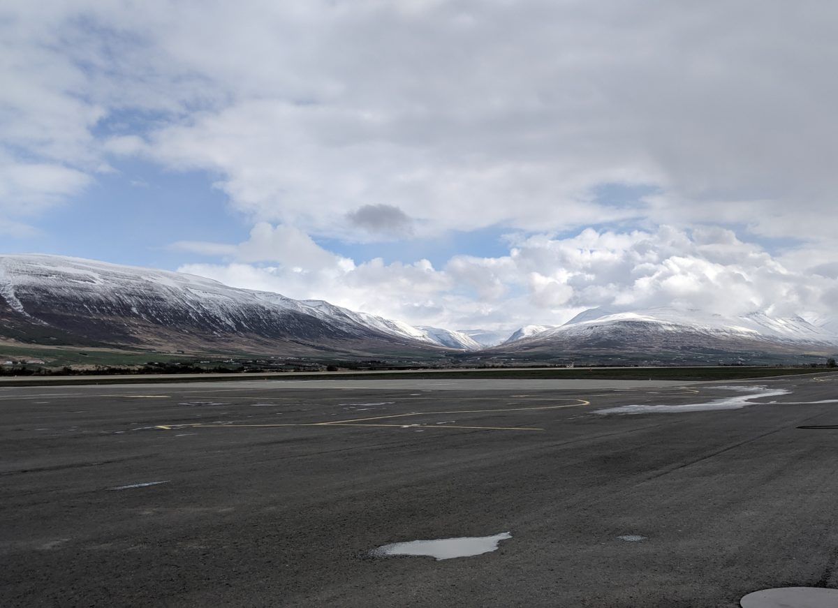 mountains and airport