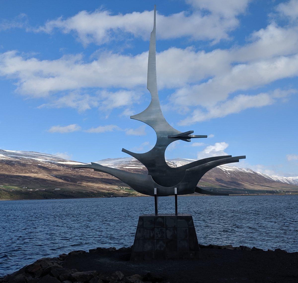 sailing ship sculpture
