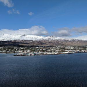 Akureyri across the water