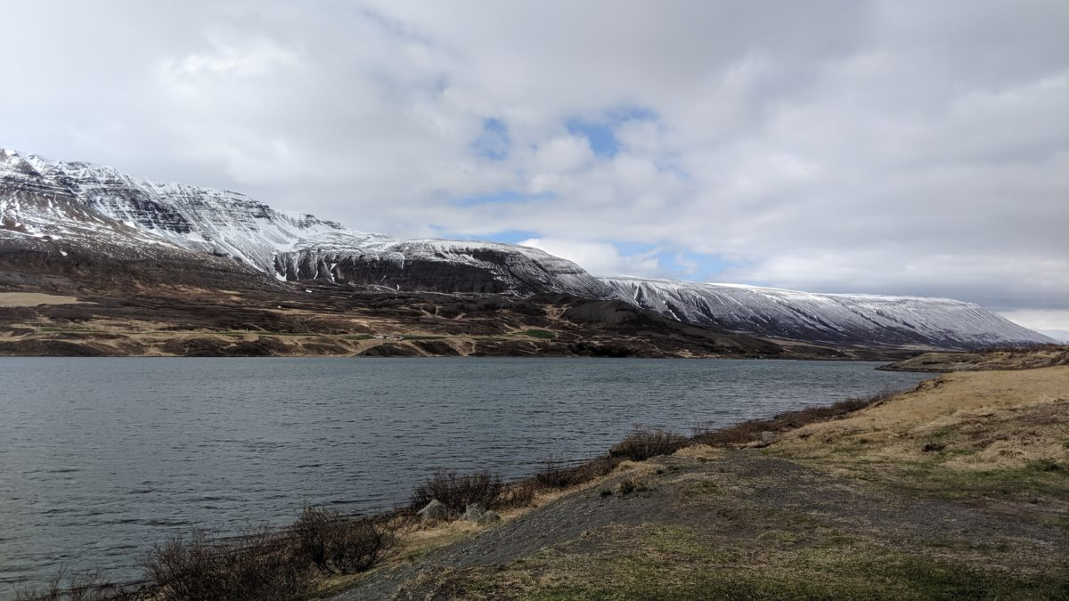 A lake in northeast Iceland