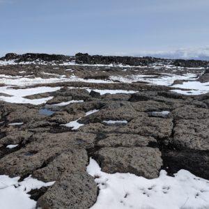 grey rocks and snow