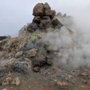 sulfurous vents