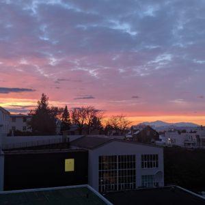 akureyri sunset