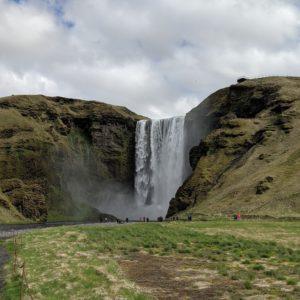 waterfall and troll