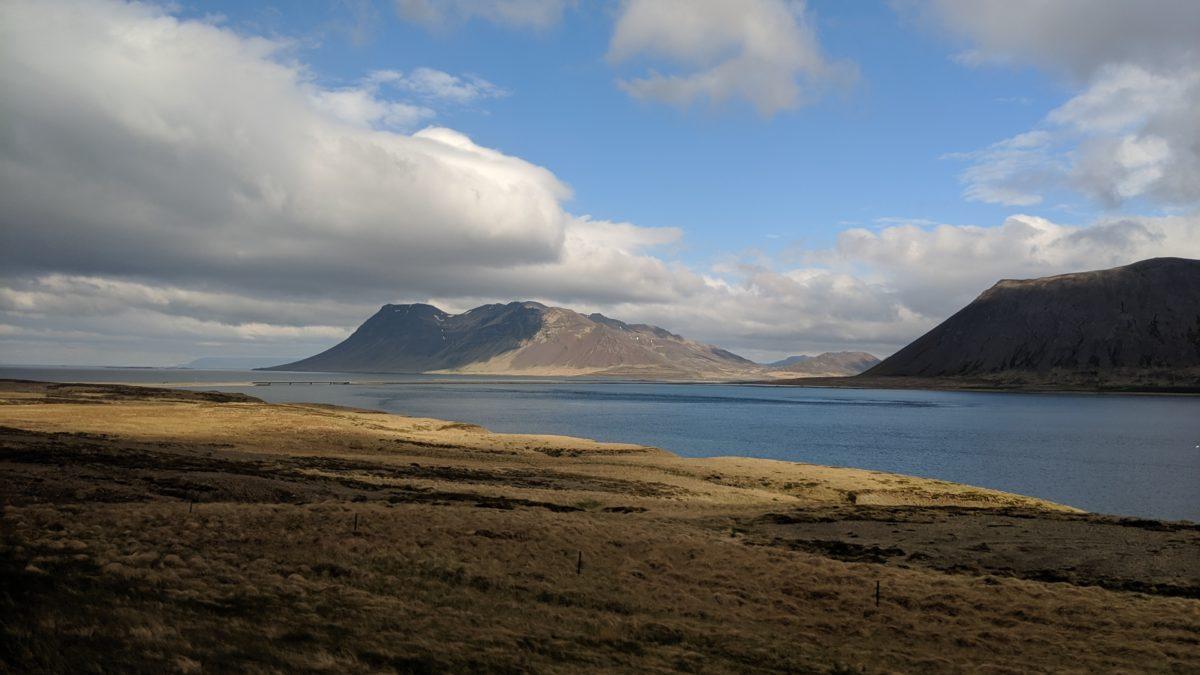 A bay between mountains