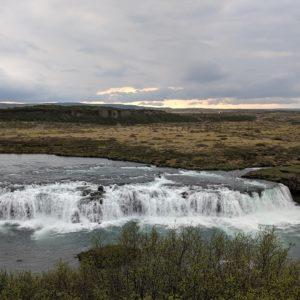 a flat waterfall