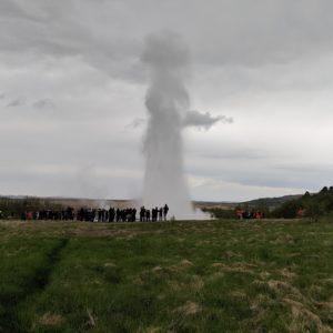 hot spring erupting