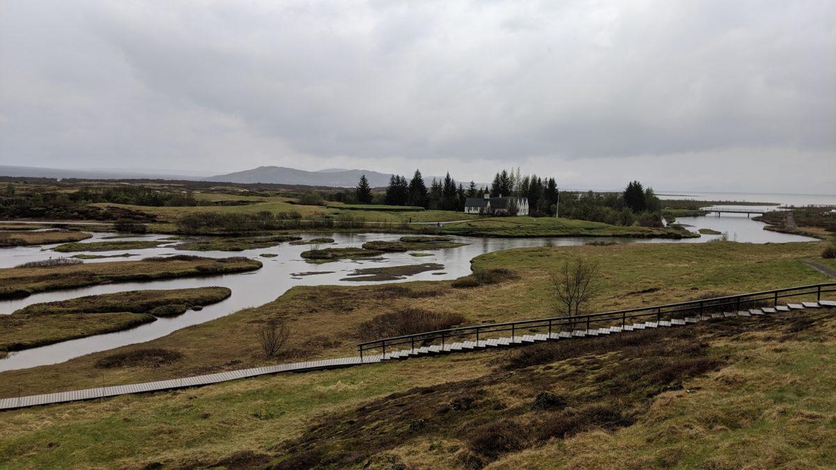 water flowing to lake