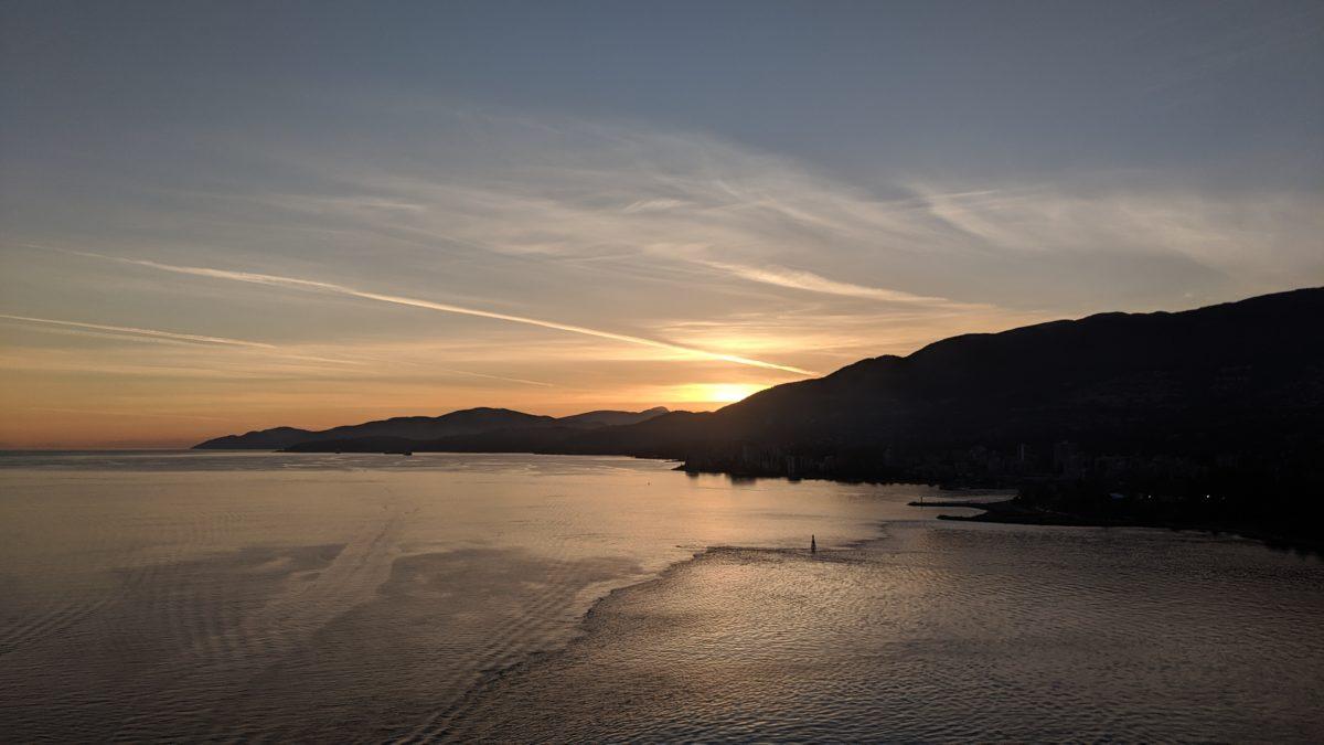 sunset over Burrard Inlet