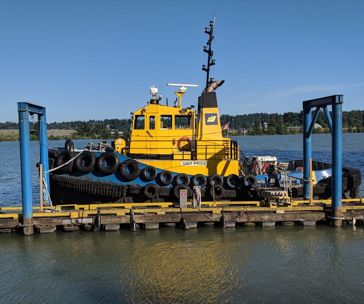 yellow tugboat