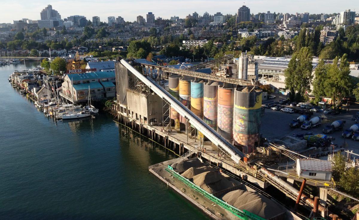 Granville Island concrete silos