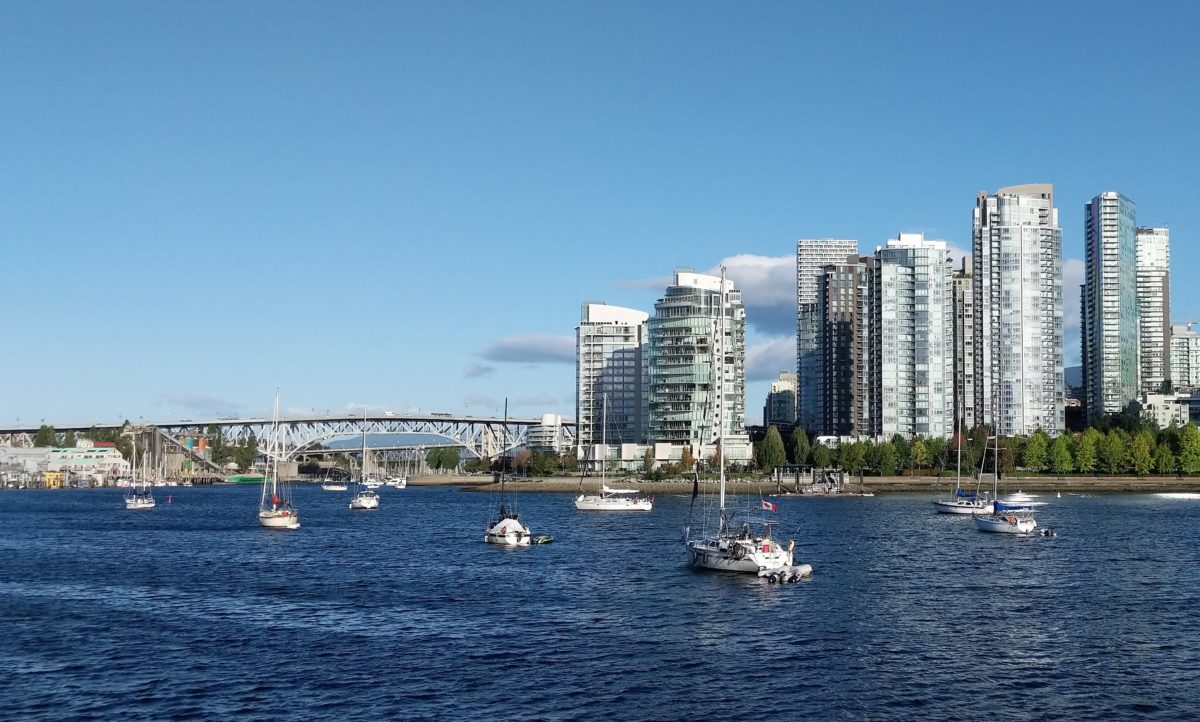 Granville Bridge, boats and towers