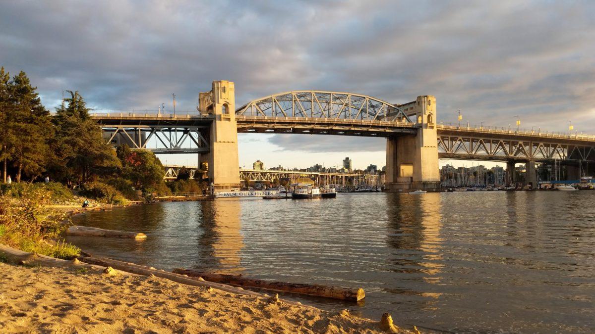 Burrard Bridge from Sunset Beach