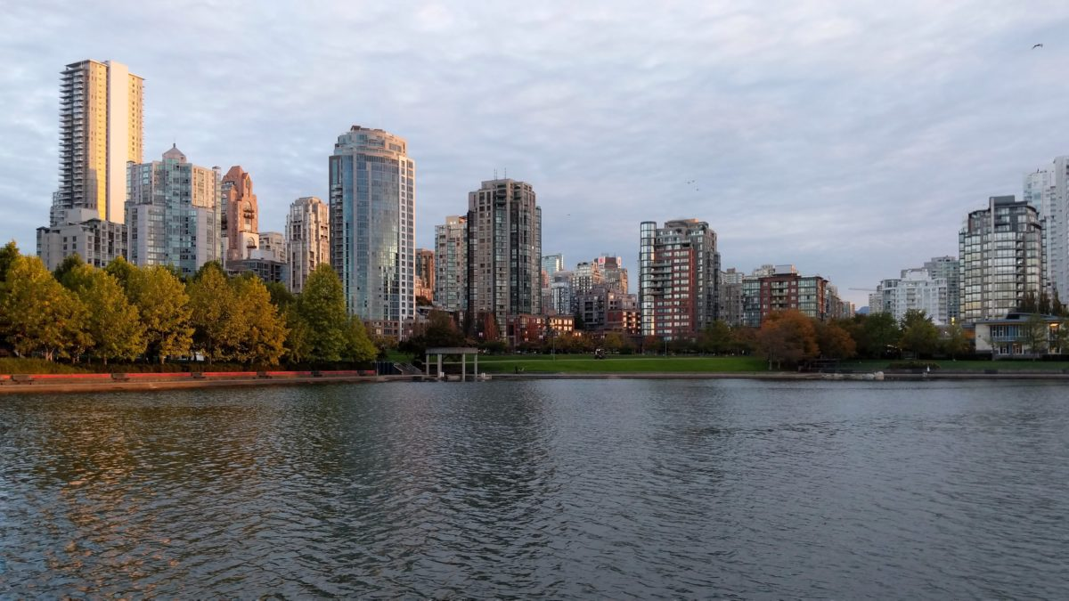 Yaletown towers, first light