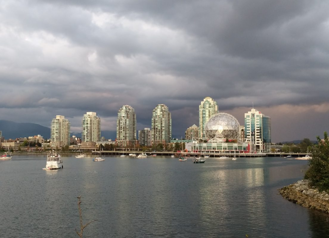 Science World and clouds