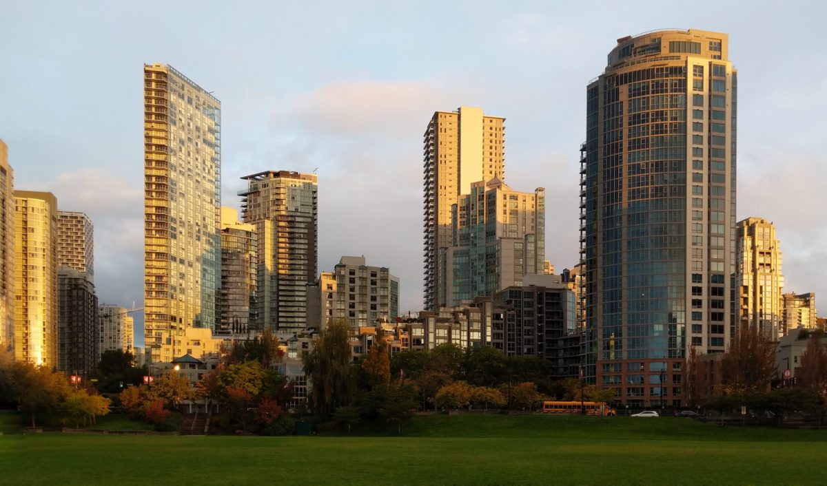 Golden Yaletown towers