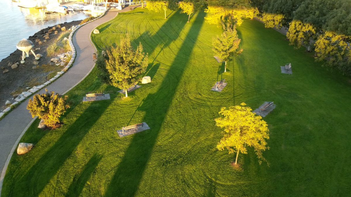 Long shadows over Coopers' Park