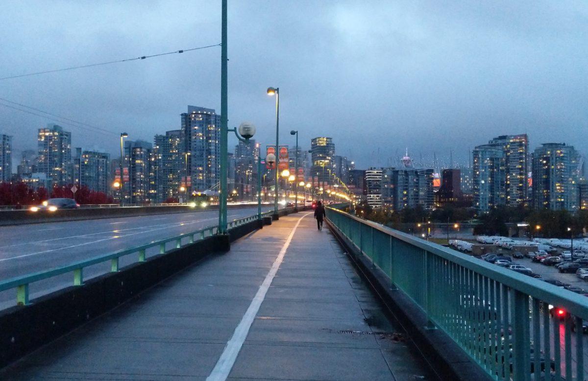 Cambie Bridge, dusk