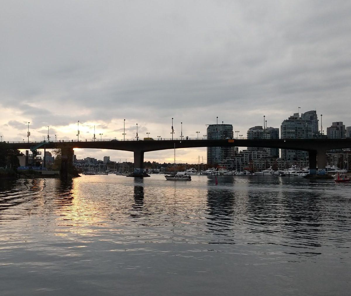 Cambie Bridge, evening