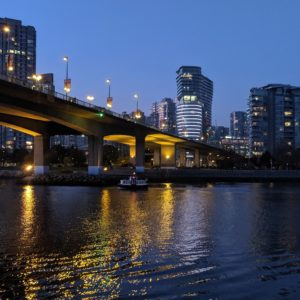 Cambie Bridge blue hour