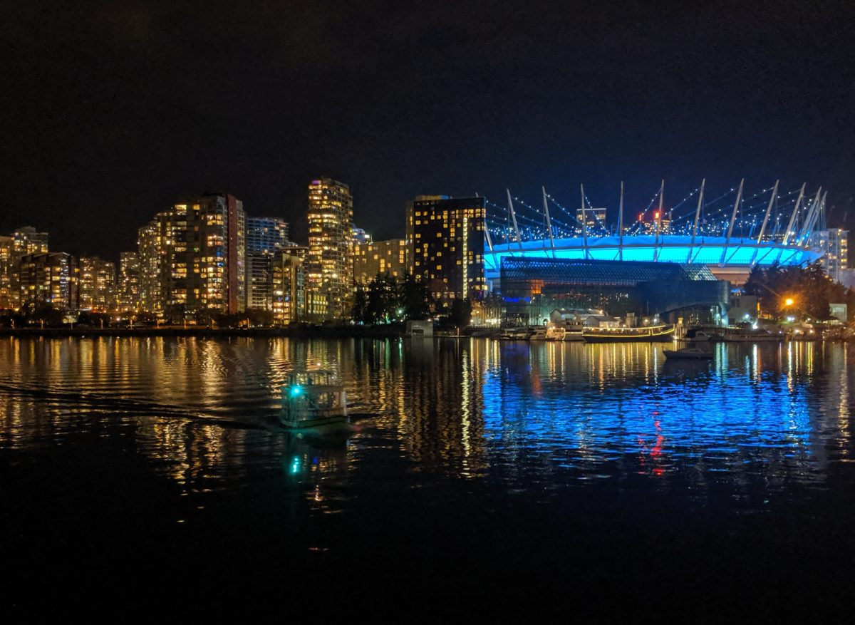 Ferry and BC Place