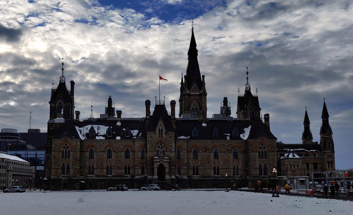 Backlit Parliament Hill