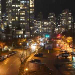 Pacific Street at night