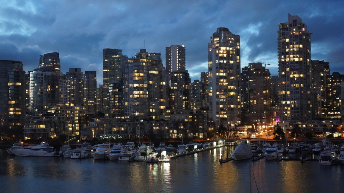 Yaletown towers, evening