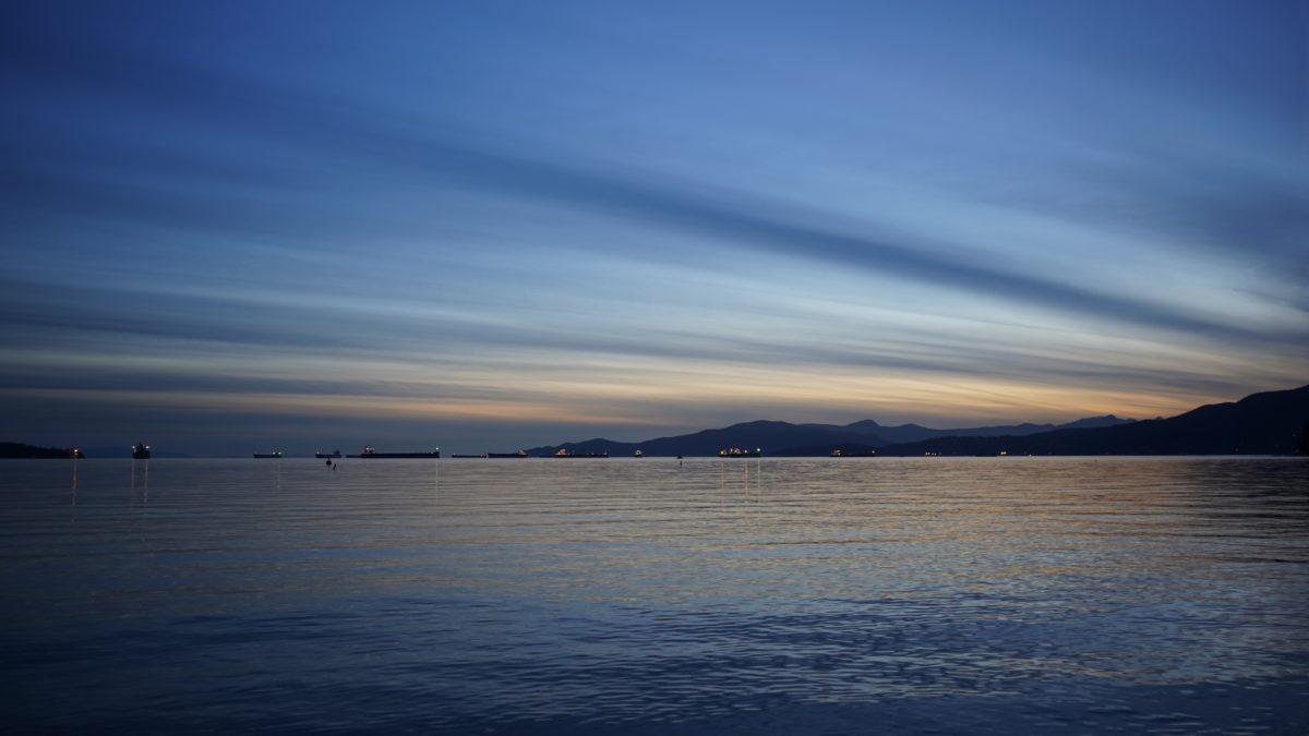 Blue streaky sunset